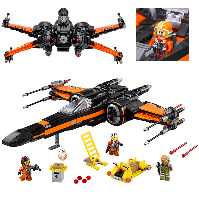 New LEPIN 05004 Star Series First Order X Model Wing Fighter 75102 Building Blocks Compatible with lego Educational war Toys new 1685pcs lepin 05036 1685pcs star series tie building fighter educational blocks bricks toys compatible with 75095 wars