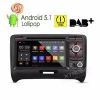 7 4 ядра ОС Android 5.1 Специальный автомобиль DVD для Audi TT MK2 2006 2014 с Audi Оригинальный Уход за кожей лица панель Дизайн и TPMS Системы Поддержка