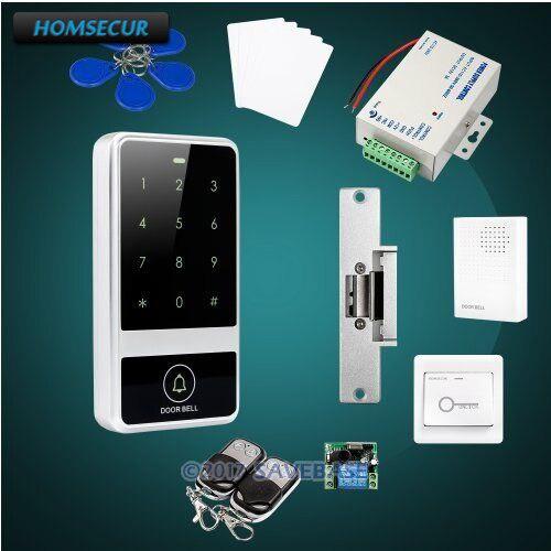 HOMSECUR Waterproof Door Lock 13.56Mhz IC Access Control System+Tamper Alarm+Doorbell homsecur waterproof 125khz rfid access control system with 8000 user capacity tamper alarm function doorbell