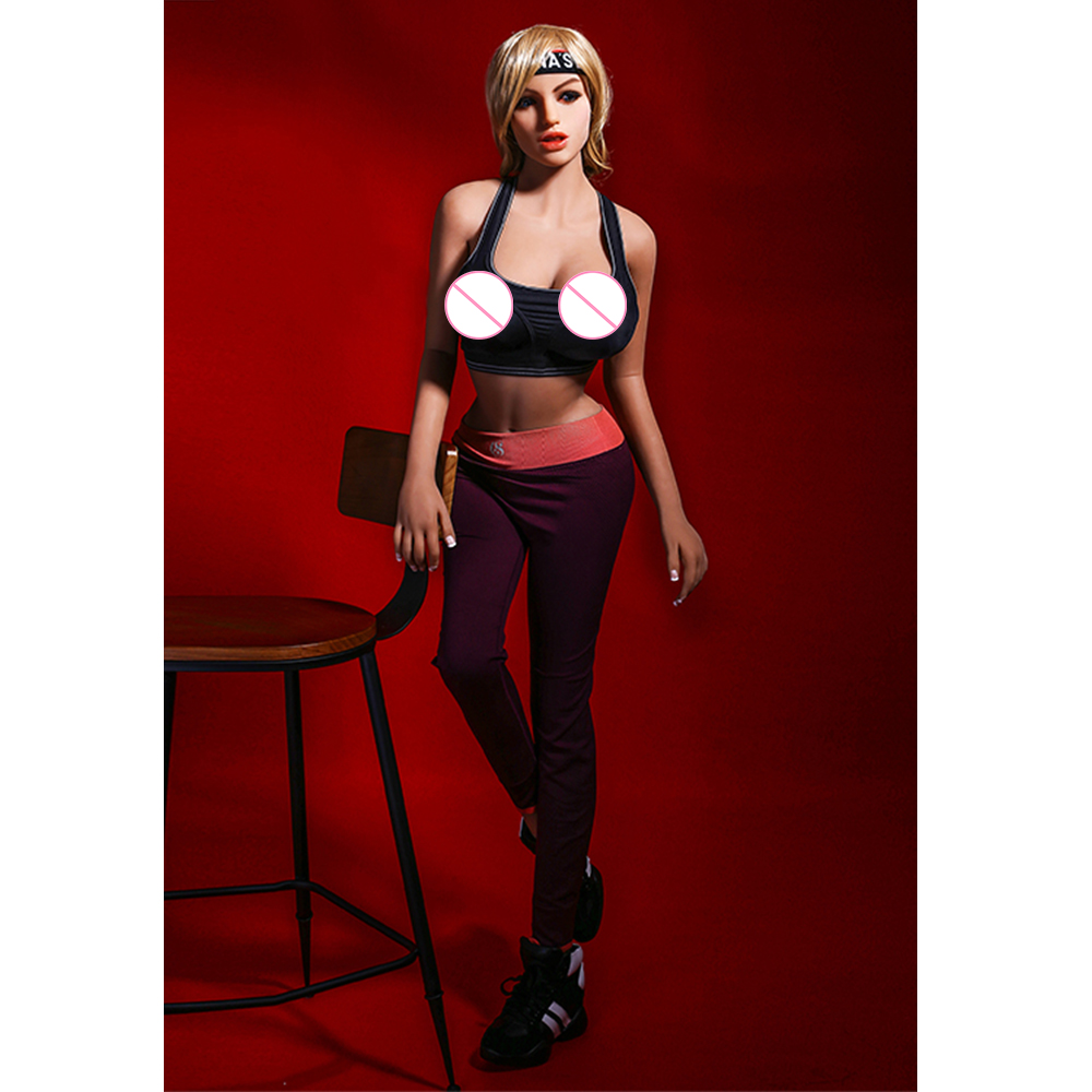 Curvy Super Model <font><b>Sex</b></font> Dolls 165cm 5ft 4.96in Fitness tpe Silicone Love Doll Real Doll with Big <font><b>Boobs</b></font> for Men <font><b>Toys</b></font> image