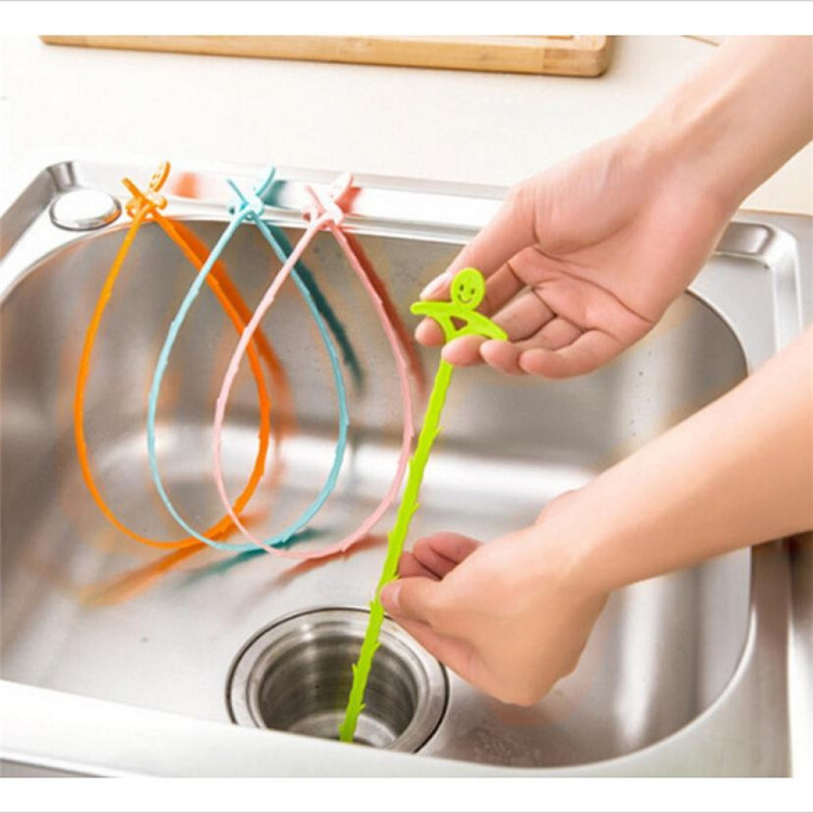 Image 5 - 1PC Sink Cleaning Hook Bathroom Floor Drain Sewer Dredge Device Sewer Cleaning Brush Bathroom Kitchen Accessories-in Cleaning Brushes from Home & Garden