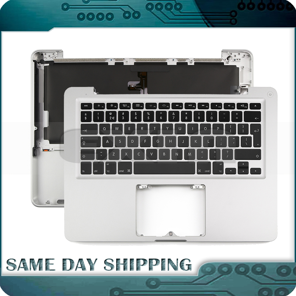 New for Macbook Pro 13 A1278 Topcase Palm Rest +Keyboard+Backlit US UK EURO EU German French Danish Russian Spanish 2011 2012 new topcase with tr turkish turkey keyboard for macbook air 11 6 a1465 2013 2015 years