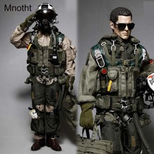 Mnotht 1/6 Solider Clothes Model For naval air force King squadron Pilot VFA-154 Black Knights 12in Toys l30 Without Head Body