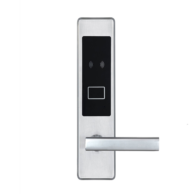 Electric Card Door Lock Electronic RFID Card with Key for Hotel Home Apartment Office Latch with Deadbolt Smart Entry L16020BS hotel lock system rfid t5577 hotel lock gold silver zinc alloy forging material sn ca 8037