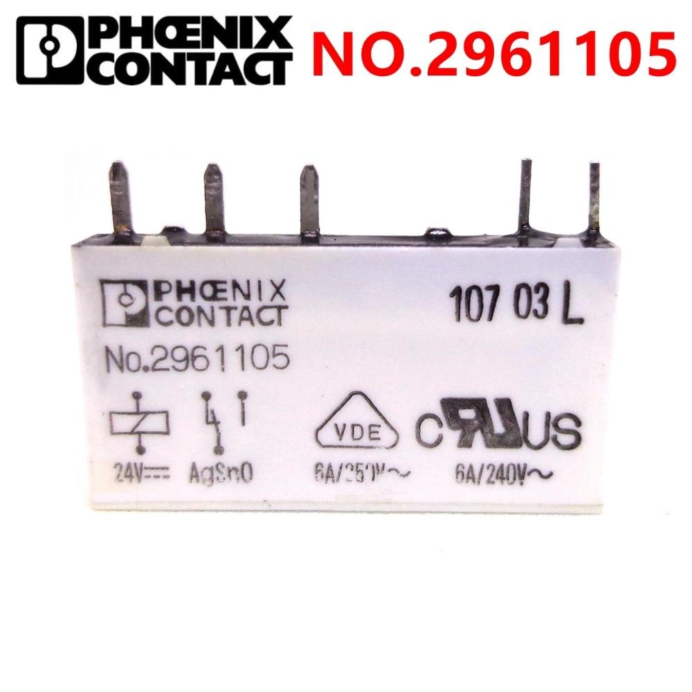 phoenix contact rele rele no 2961105 art nr 2961105 24vdc dc24v marca novo e original
