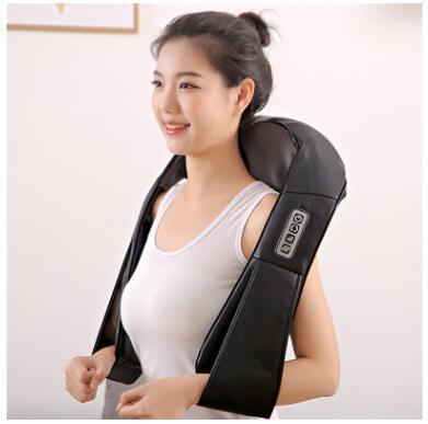 Electrical shiatsu massager neck massage device electric back shoulder belt kneading roller machine