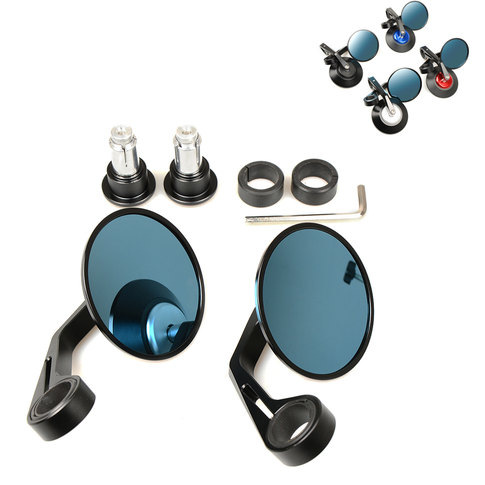 "Round 7/8"" Handlebar Aluminum Alloy Motocycle Rearview Mirrors Moto End Motor Side Mirrors Motorcycle Cafe Racer Accessories"