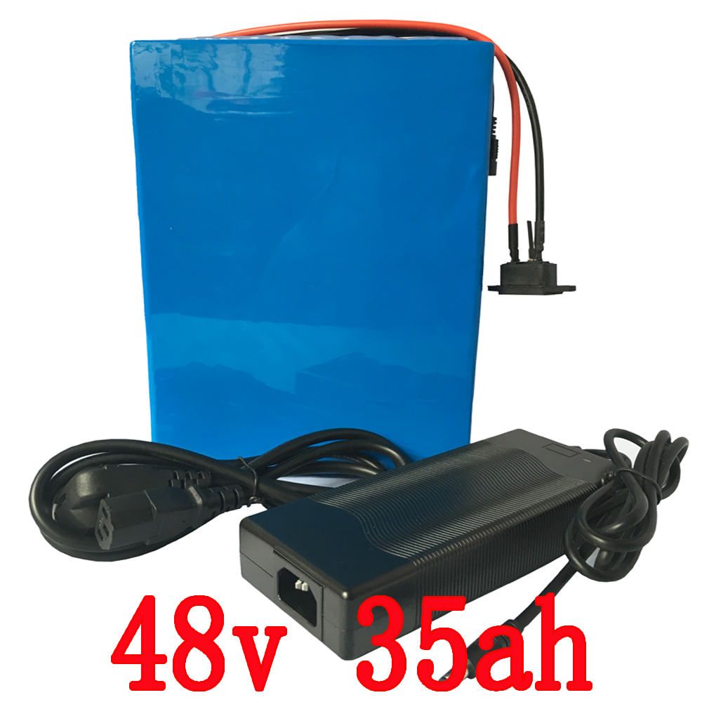 48V 35Ah 2000W e-Bike Battery Lithium Battery Pack For 48V Electric Bike Drive Motor With 54.6V  5A Charger and 50A BMS Battery free customs taxes customized 72v 40ah lithium battery pack for e bike electric scooters ev e bikes with charger and 50a bms