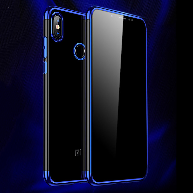 MUCHI Case For Xiaomi Redmi Note 5 Pro Luxury Plating Soft Clear Back Cover Pocophone F1 Phone Cases