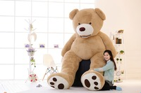 super huge 102 inch smile bear plush toy , about 260cm teddy bear plush toy bear doll sleeping pillow toy surprised gift w9498