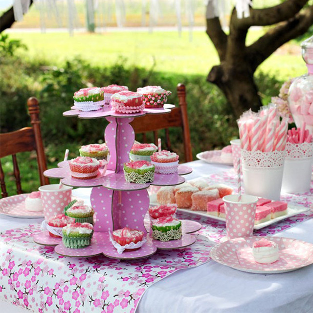 Cupcake Cups Cake Stand Dessert Pallet Mount Decoration Wedding Birthday Party Supplies Event