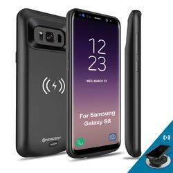 Newdery Portable Wireless battery case for Samsung galaxy S8 5000mah charging case for Samsung s8 plus 5000mAh