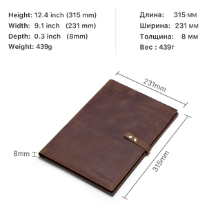 Image 5 - Retro Genuine Leather Laptop Notebook Case For Apple MacBook Retina Carry 12 inch Men Business Laptop Bag Computer Sleeve Pocket