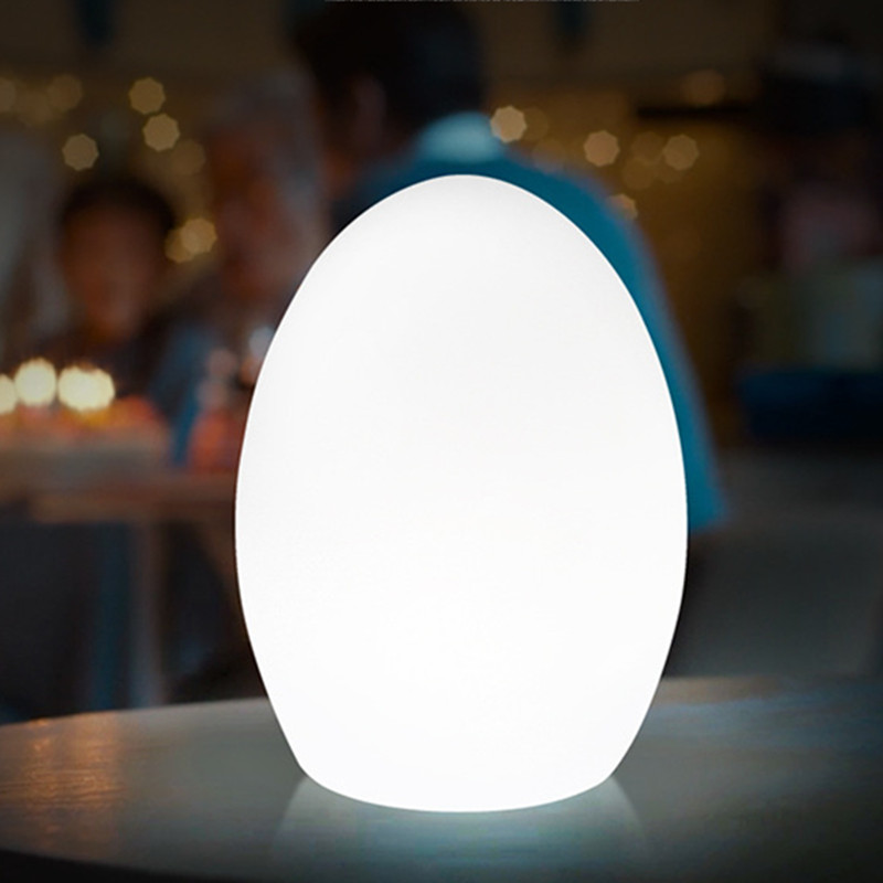 USB Rechargeable RGB Egg Led Night Light Outdoor Desk Multicolor Pub Club KTV Atmosphere Lamp Light with Remote controller led remote control colorful eggs rechargeable bar table lamp ktv night club light dimming color led night light free shipping