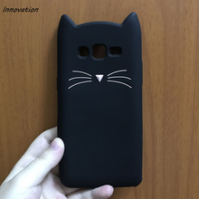 For Samsung Galaxy S5 S6 Edge S7 S8 Plus J1 J5 J7 2016 Phone Cases Cute Cartoon Cat Case 3D Silicone Soft Back Cover Funda