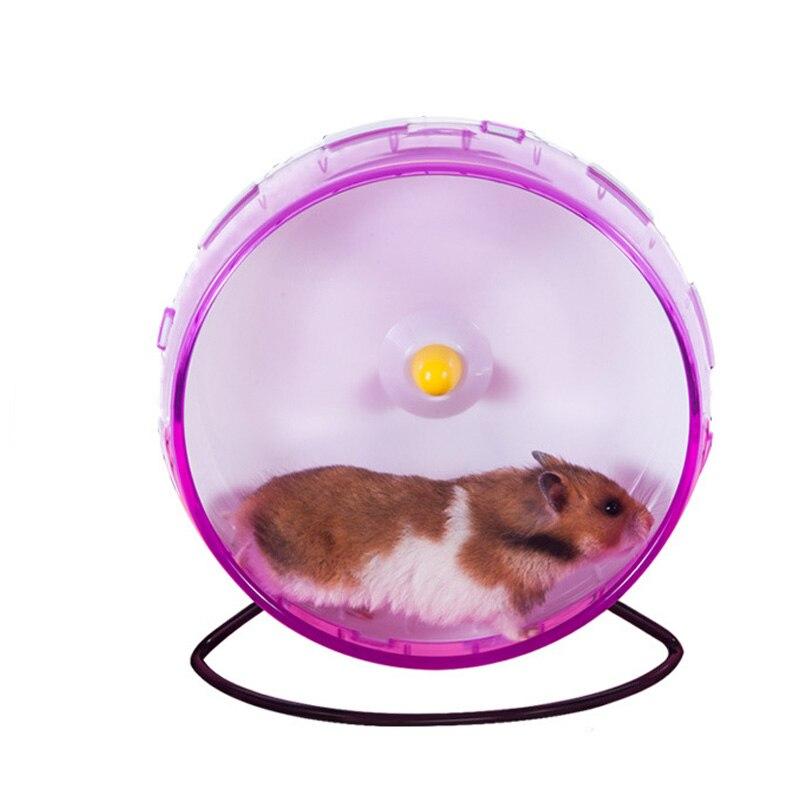 21 CM grande Silenzio hamster Chinchilla Esercizio in esecuzione lo sport palle giocattoli cremagliera ruota del criceto cavia criceto accessori
