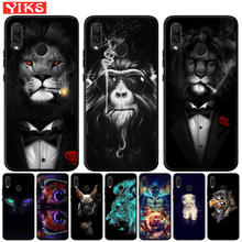 Cool Lion Tiger Monkey Animal Black TPU Case For Huawei Honor 20 Pro 10 9 9i 8 L
