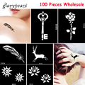 100 Pieces Wholesale Small Henna Indian Body Tattoo Stencil Airbrush Painting Paste Drawing DIY Art Tattoo Stencil 72 Design New