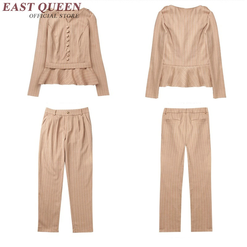 aec26b49e03d Donne vestiti con pantaloni elegante ufficio di usura tailleur pantalone  donna pro signore pant abiti a maniche lunghe di affari abbigliamento casual  AA1901 ...