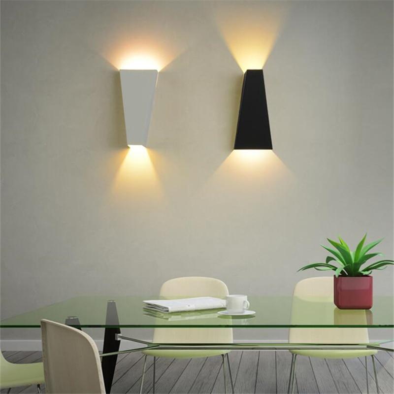 art deco led wall light for home dual head geometry