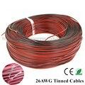 10 m de cobre Estanhado 26AWG cabos levou 2pin (UL2468) extensão de cabo Para LED Strip estender, PVC isolou o fio Elétrico livre shiping