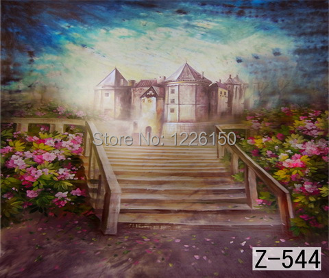 Mysterious scenic Backdrop z-544,10ft x20ft Hand Painted Photography Background,estudio fotografico,backgrounds for photo studio spring scenic backdrop 013 10ft x20ft hand painted muslin photography background estudio fotografico photo studio backdrop