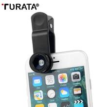 TURATA 5 en 1 HD Universel Téléphone Caméra Fish Eye Camera Lens Kit [0.67X Grand Angle + 10X Macro] Clip-on de Conception Pour le Smartphone