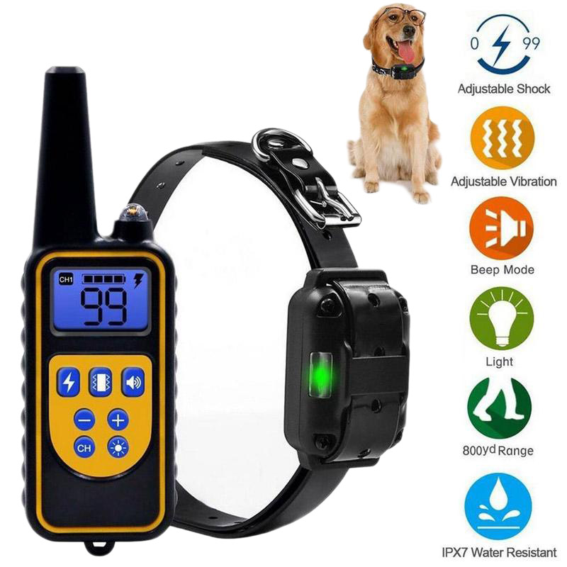 800m Electric Dog Training Collar Pet Remote Control Rechargeable with LCD Display Shock All Size Vibration Sound Drop Shipping Баллон для дайвинга