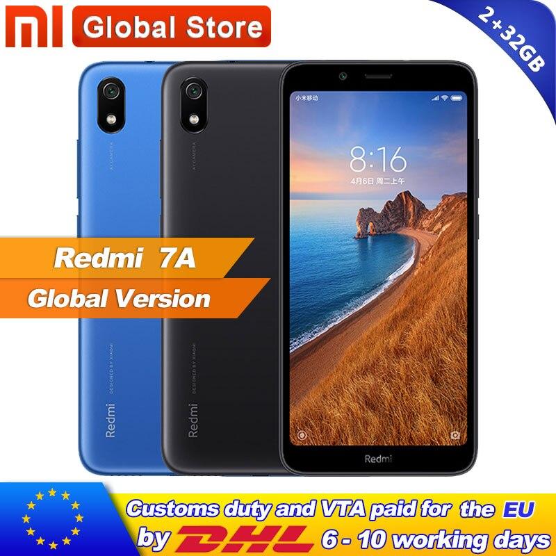 Global Version Xiaomi Redmi 7A 7 A 2GB 32GB ROM Snapdargon 439 Octa core Mobile Phone