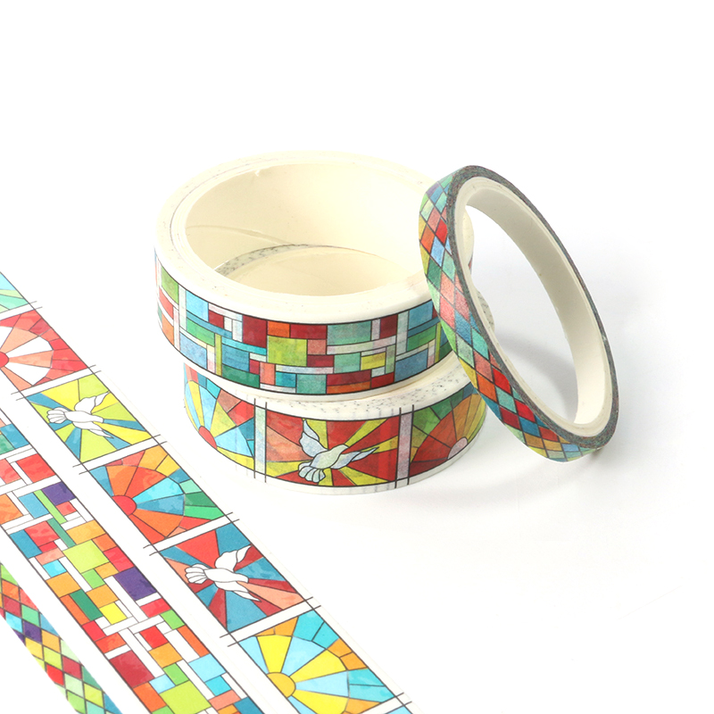 3pcs/lot Decor Colorful Geometry Grid Washi Tape Japanese Paper DIY Planner Masking Tape Adhesive Tape Stickers Stationery Tape