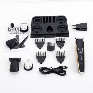 Image 5 - 100 240V kemei 5 ב 1 חשמלי מכונת גילוח שיער גוזם titanium קליפר בירד תער גברים סטיילינג כלים גילוח מכונה למספרה
