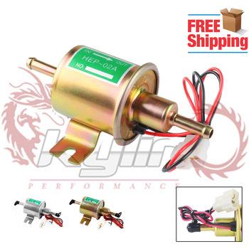 Uniwersalna elektryczna pompa paliwowa niskie ciśnienie Bolt Fixing Wire Diesel benzyna HEP-02A zestaw Metal elektryczna pompa paliwa 12V 8mm FP009 tanie i dobre opinie RYANSTAR RACING CHINA ENGINE 10 cm 15 cm Aluminium 0 4 kg Fuel Pump Electric Fuel Pump Boat Diessel Pump slive gold 0 3-0 5 MPA