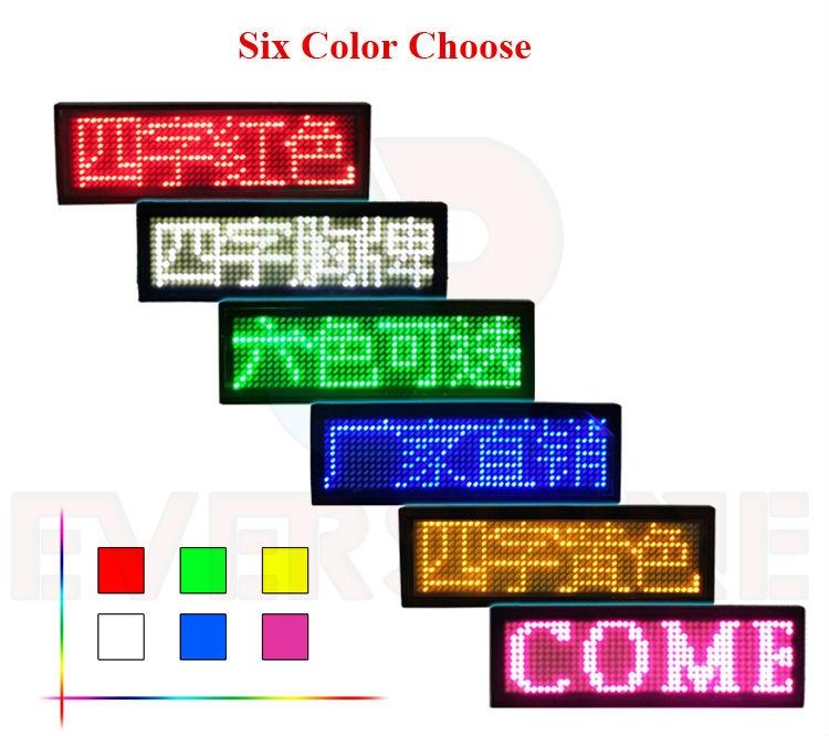 led name badges,led name tag programmable moving led message ...