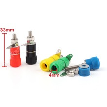 Sale 100 Pcs Binding Post Speaker Terminal Cable For Banana Plug Length 33mm