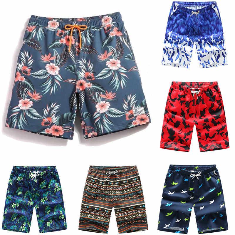 Calções de banho calções de banho troncos praia board natação curto secagem rápida calças maiôs homens correndo esportes surf shorts para homem