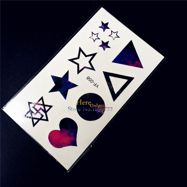 Black Temporary Tattoo For Kids Flash Water Transfer Tattoo Paste     Black Temporary Tattoo For Kids Flash Water Transfer Tattoo Paste Wall  Sticker HYF 058 Star
