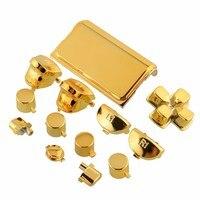 50 комплект металлические кнопки аксессуары Dpad R1/L1/R2/L2 кнопки полный кнопки для sony PS4 геймпад