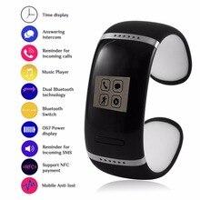 L12S мужчин и женщин любителей цифровой умный Браслет OLED Экран 250 мАч Батарея спортивные Идентификатор вызывающего абонента MP3 музыка смарт-браслет