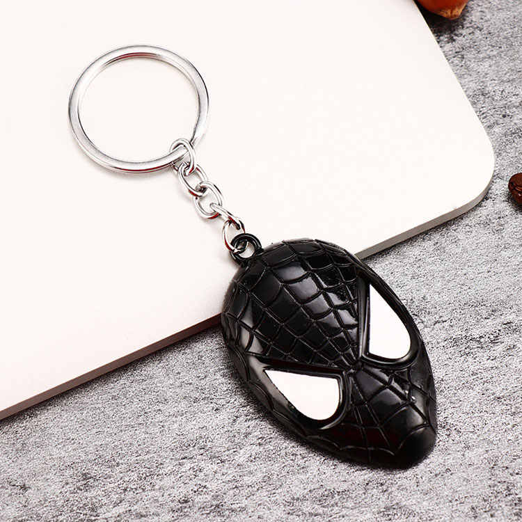 Logam Marvel Avengers Captain America Perisai Gantungan Kunci Spider Man Iron Man Mask Keychain Mainan Hulk Batman Gantungan Kunci Gantungan Kunci Mainan PJ-027-5