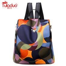 Высокое качество водонепроницаемый Оксфорд женский рюкзак модные противоугонные женские рюкзаки известный бренд Дамский большой вместительный рюкзак