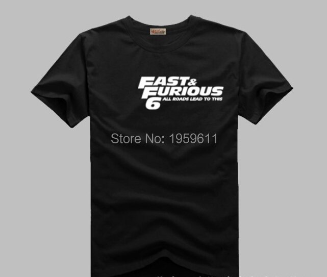 New Fast And Furious 6 Pint ALL ROADS LEAD TO THIS  Summer style T shirt Fast And Furious Paul WalkerShort Tee Shirts For Men