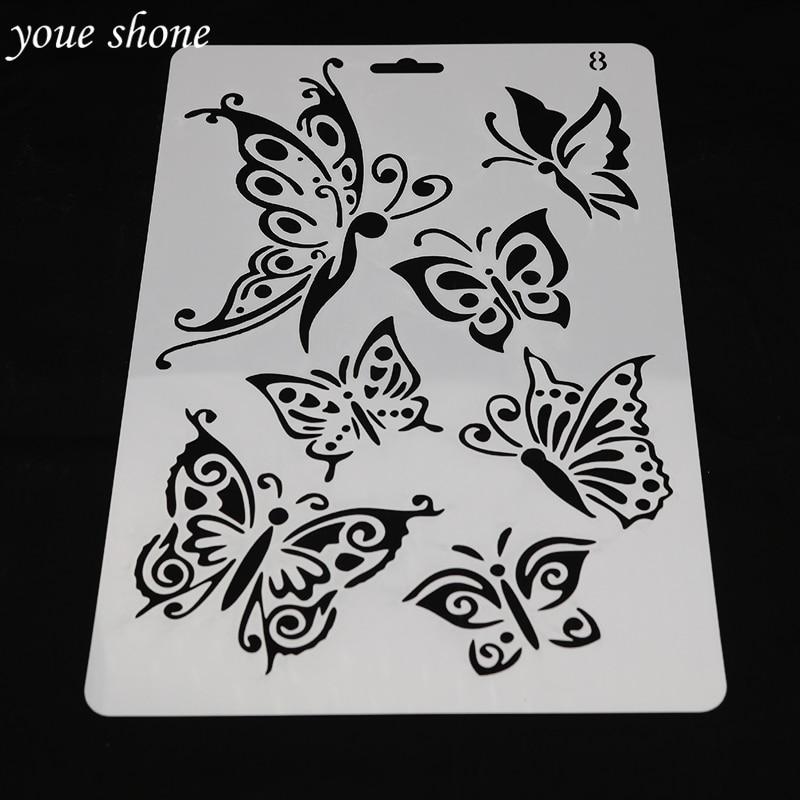Aliexpress  Buy DIY Scrapbooking Butterfly Template Baking - butterfly template