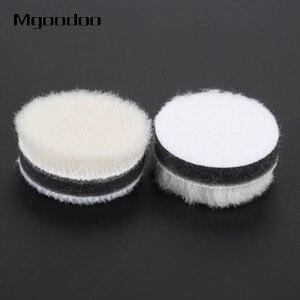 Image 5 - 20 pçs 1 Polegada 25mm lã polimento polimento enceramento almofada de pintura do carro cuidados polidor roda disco polonês para broca dremel ferramenta rotativa