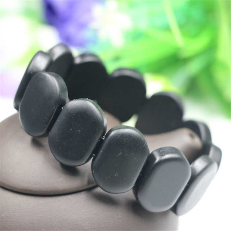2019 New Arrival  Natural Black Bian Stone Unique 3 Models Exquesite Allergy Free Elasticity Bracelet Adjustable High Quality