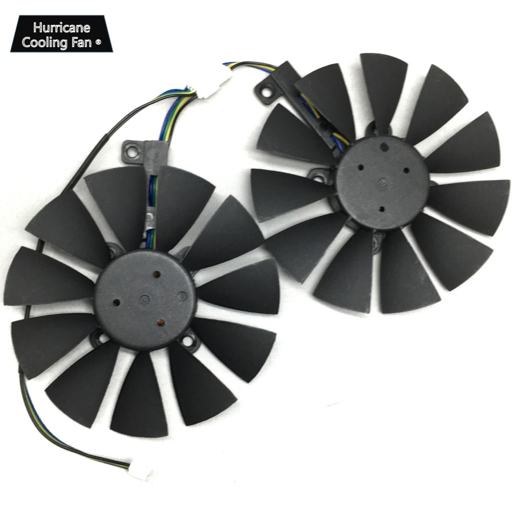 Image 3 - 2Pcs/Lot T129215BU T129215SU VGA GPU Cooler GTX 1070 GTX 1060 Graphics Card Fan for ASUS Dual GTX1060 GTX1070 Video card cooling-in Fans & Cooling from Computer & Office