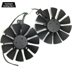 Image 3 - 2Pcs/Lot T129215BU T129215SU VGA GPU Cooler GTX 1070 GTX 1060 Graphics Card Fan for ASUS Dual GTX1060 GTX1070 Video card cooling
