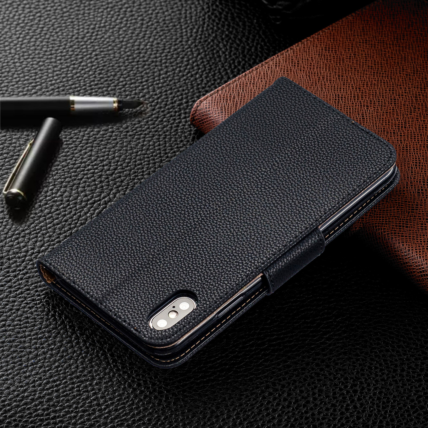 Image 4 - Wallet Phone Case for iPhone 11 Pro Max Xr X Xs Max 8 7 6 6s Plus Flip PU Leather Cover Stand Magetic Closure with Card Holder-in Flip Cases from Cellphones & Telecommunications