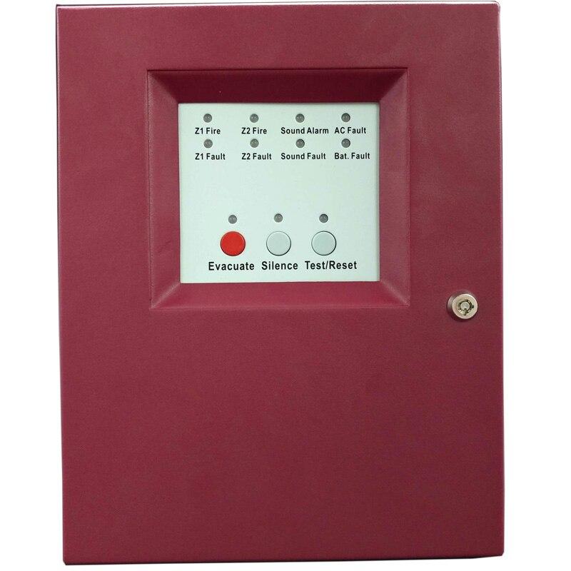 2 Zones  Slave Fire Alarm Control Panel MINI Fire Alarm Control System Conventional Security Host Fire Controller