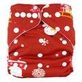 TODOS EN UN TAMAÑO Promocional Impresiones 1 unids Lavables Pañales Reutilizables Pañal de Tela Ajustable Cubierta Para El Bebé