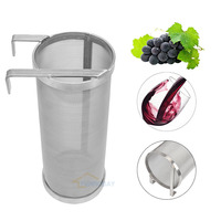 Stainless Beer Keg Dry Hopper Filter Hoping Home Brew Hopper Spider Strainer Home Brew Pellet Hop Mesh Filter 4*10inch